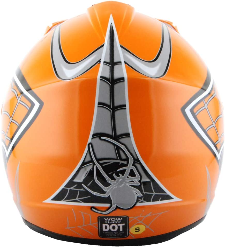 WOW Youth Kids Motocross BMX MX ATV Dirt Bike Helmet Spider Web Pink