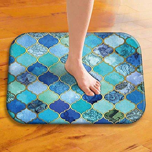 Bronze Carpet (Coral Cashmer Mat Floor Mat 3D Painting Spiral Pattern Tree Printed Doormat Bathroom Carpet 40x60cm Non-slip Toilet Rugs Type E)
