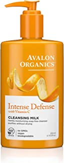 product image for Avalon Organics Cleansing Milk, Intense Defense with Vitamin C, 8.5 Oz