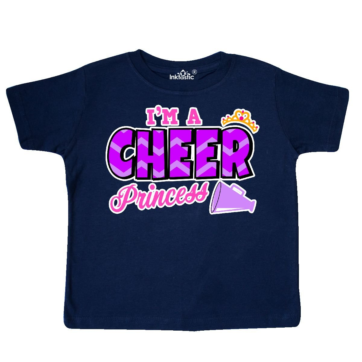 inktastic Im a Cheer Princess with Crown and Megaphone Toddler T-Shirt