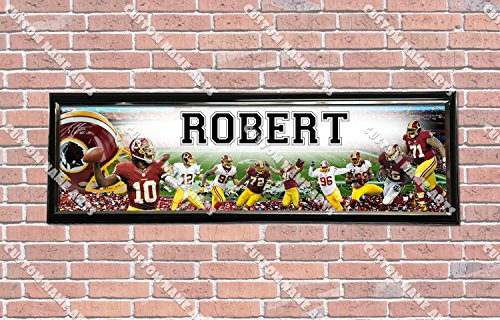 Personalized Customized Washington Redskin Poster With Frame, With Your Name On It, Party Door Poster, Room Art Decoration, Wall Decor -