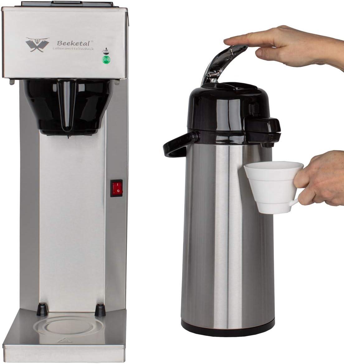 Beeketal 'BGK2-T' Gastro Edelstahl Kaffeemaschine mit 2 Liter