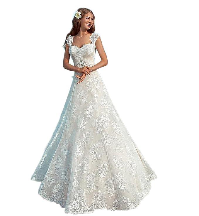 CoCogirls Elegante Sommer Strand Brautkleider Hochzeitskleid ...