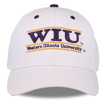 huge discount c50ea 8c12a The Game NCAA Western Illinois Leathernecks Unisex NCAA bar Design Hat,  White, Adjustable
