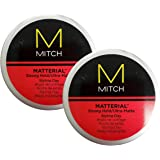 Paul M Matterial Strong Hold Styling Clay 3 oz (2 Pack)