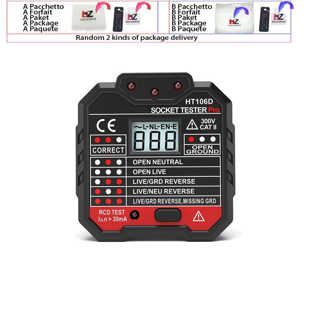 HT106B HT106D HT106E Digital Display Socket Tester Plug Polarity Phase Check detector Voltage Test Multi-function Electroscope