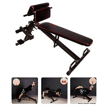CCLIFE Banco Entrenamiento Plegable de Abdominales y Musculación Banco Ajustable de Ejercicio para Sit-up/Push-up
