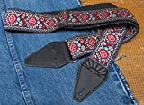 Hendrix Peacock Cotton USA-made Guitar Strap by TROPHY