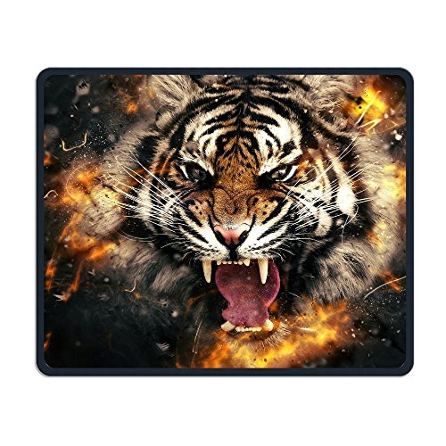 Smooth Mouse Pad Fire Angry Tiger Mobile Gaming Mouse Pad Work Mouse Pad Office Pad