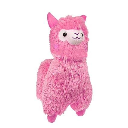 Amazon Com Tollion Cuddly Soft Pink Alpaca Llama Lamb Toy 7