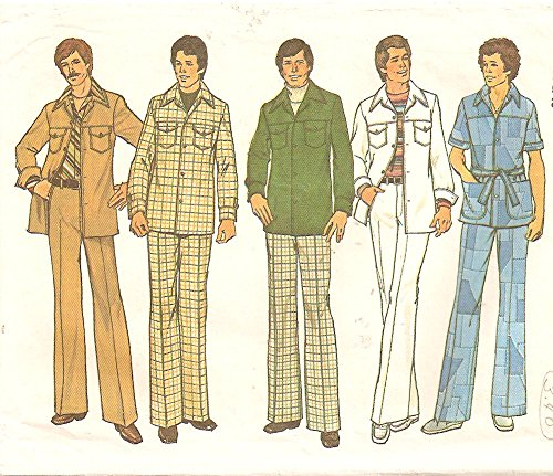 Simplicity 7314 Men's Leisure Suit Vintage Sewing Pattern Check Offers for Size -