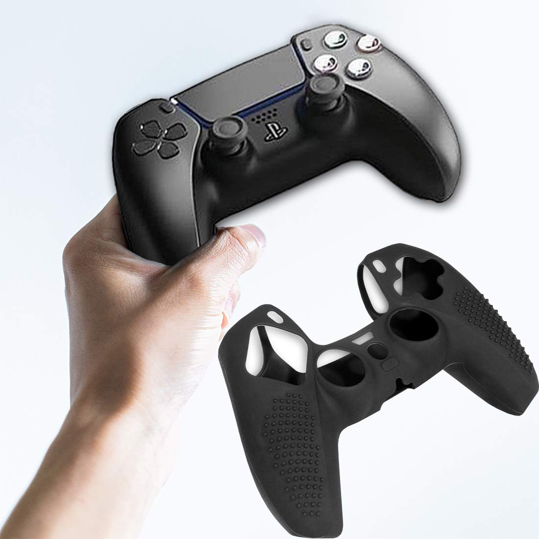 Amazon.com: PS5 Controller Skin, Silicone Cover for GamePad Anti-Slip Grip  Silicone Cover Protector Case Compatible with PS5 Gamepad Controller(Black):  Video Games