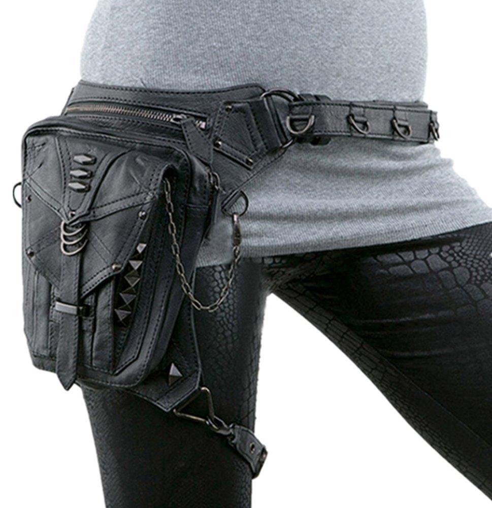 Shu li Damen Steampunk Schulter Crossbody-Tasche Outdoor Handy Taille Tasche