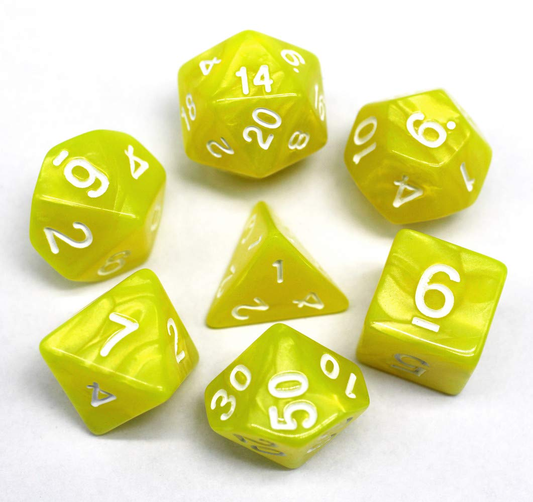 HD DICE DND Polyhedral Dice Set RPG Dice for Dungeons and Dragons D/&D Pathfinder Role Playing Games Pearl Dice Black