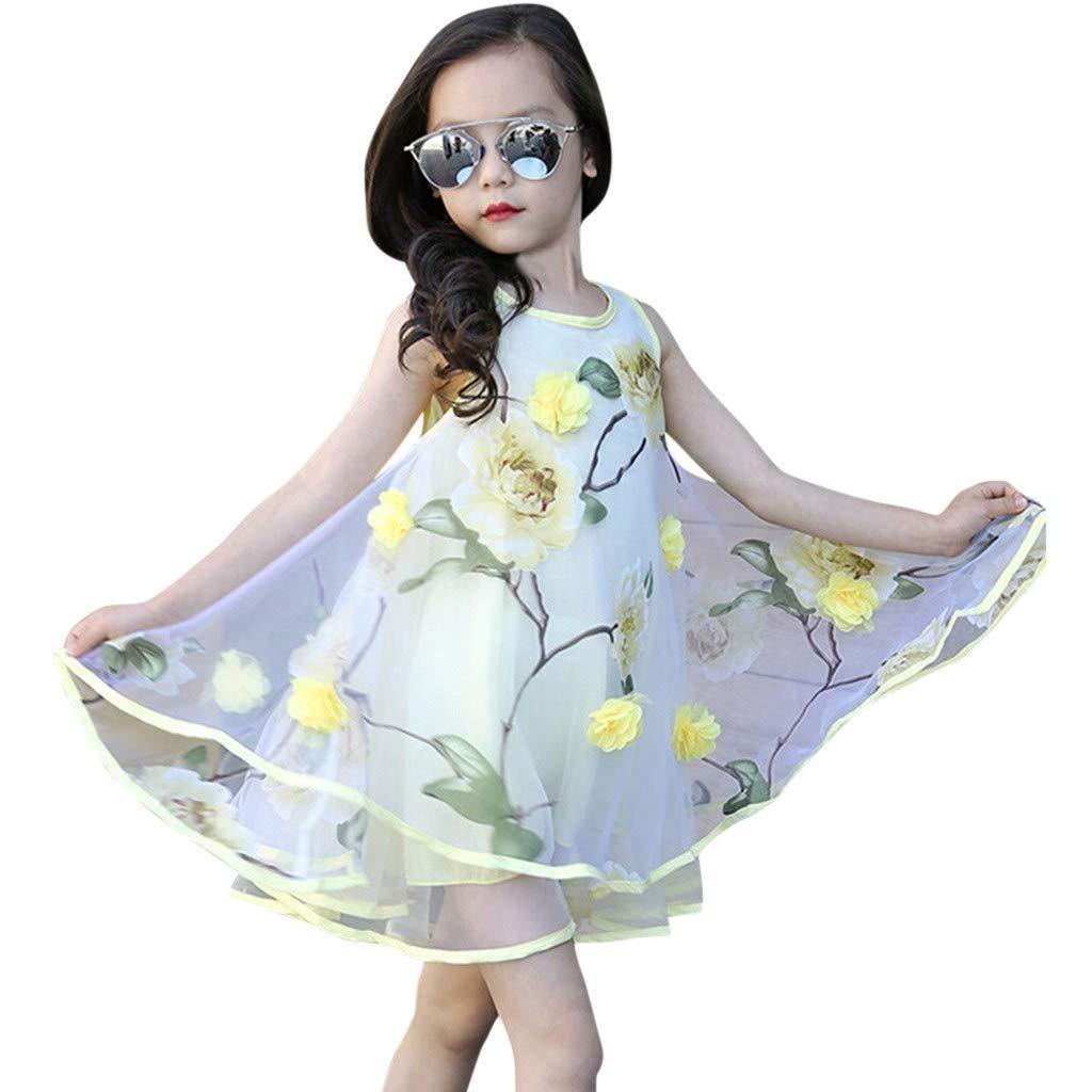 3D Blume Organza Weste Flauschiges Kleid DAKERTA ✿✿Baby M/ädchen Kleid Sommerkleider Kinderbekleidung Party Kleid Babykleidung Kindertag Geschenk