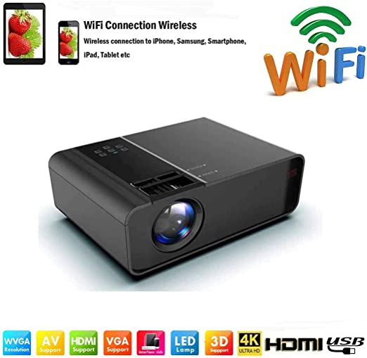 Proyectores WiFi /Mini proyector de video LED Full HD-8000 Lumen ...