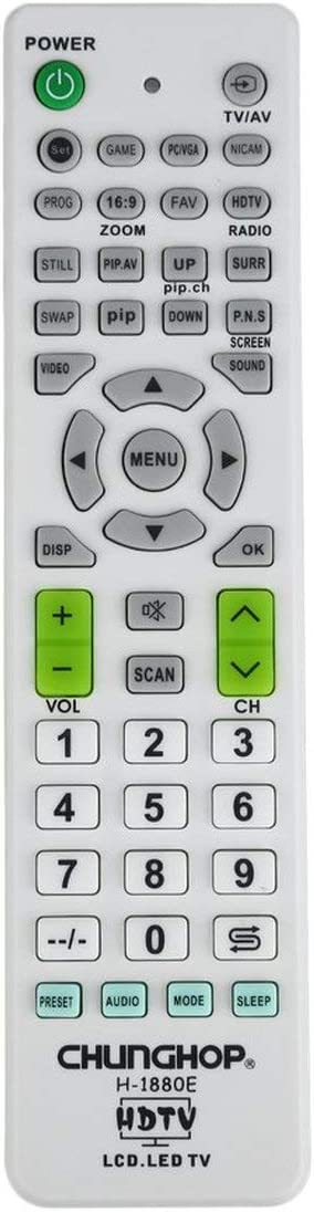 1 Piezas LCD LED HD TV Controlador de Control Remoto Universal para TV Televisor para LG para Samsung para Skywort para Sony (Blanco y Verde) ESjasnyfall: Amazon.es: Electrónica