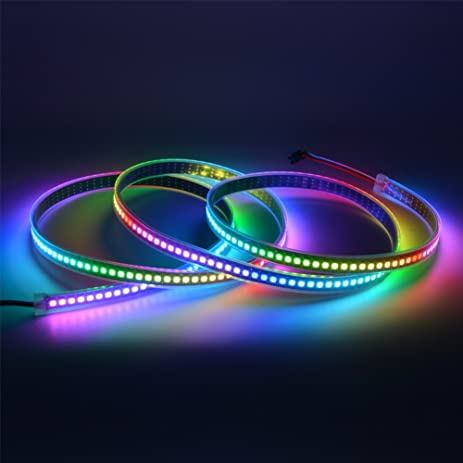 Amazon mokungit ws2812b led strip 65ft 2m 144pixelsm mokungit ws2812b led strip 65ft 2m 144pixelsm programmable led strip light ws2812b ws2811 aloadofball Choice Image