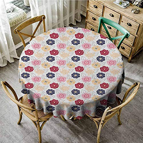 Rank-T Round Tablecloth for Party Gold 67