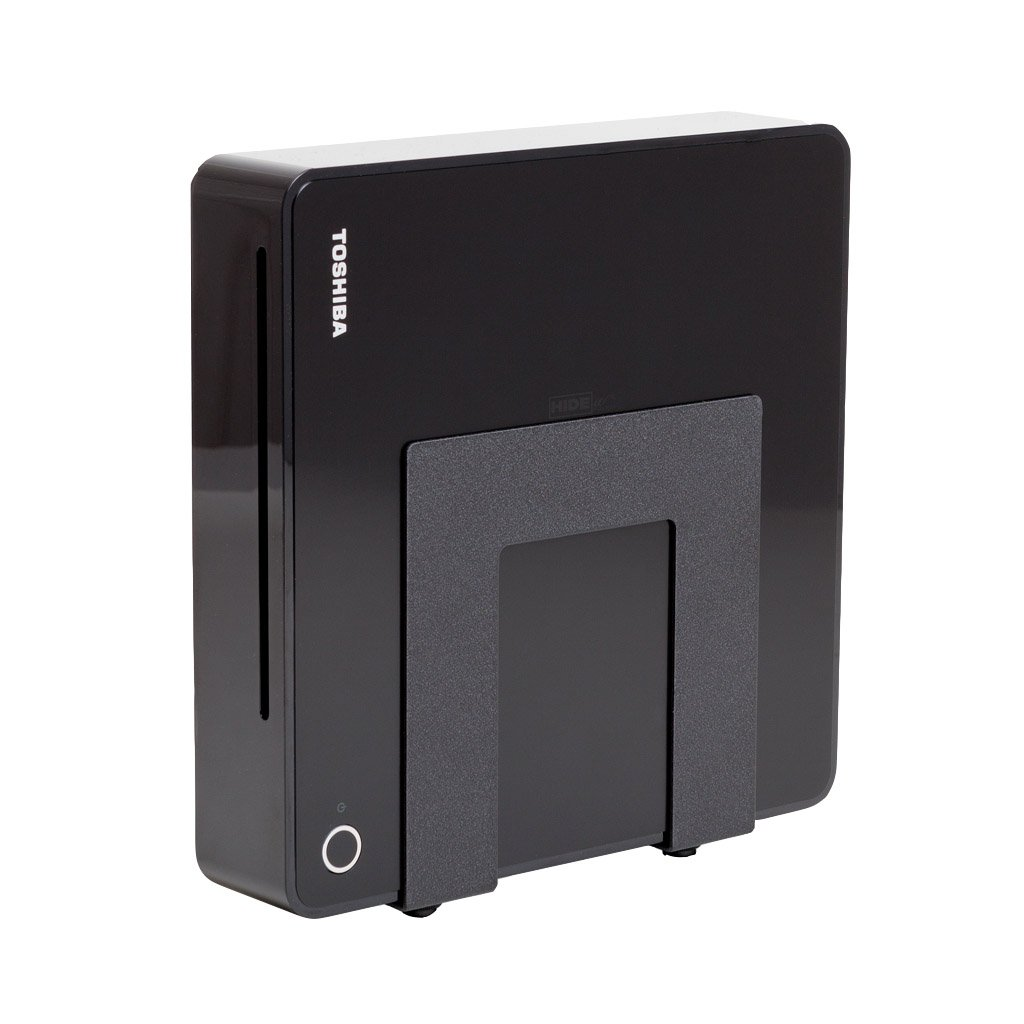HIDEit Uni-SW Mount (Black) - Adjustable Small + Wide Device Wall Mount for Cable Boxes - Made in the USA