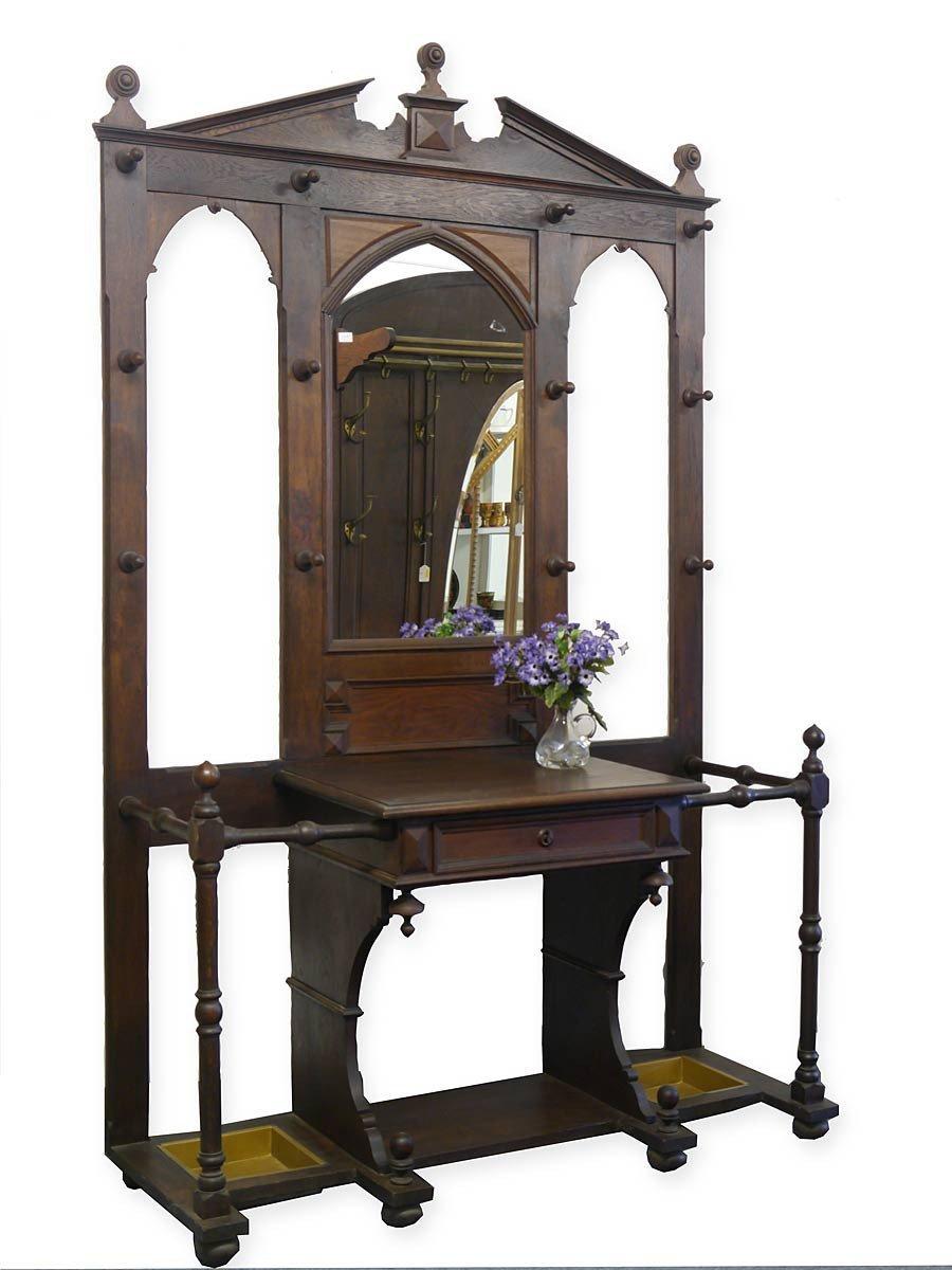 antike garderobe gr nderzeit um 1880 eiche massiv g nstig. Black Bedroom Furniture Sets. Home Design Ideas