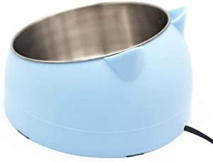 GWOKWAI Stainless Steel Pet Bowls,Heated Cat Water Bowl Cute Slanted Dog Heating Bowl for Dogs Cats,Chickens Ducks- USB