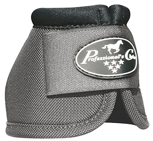 PROFESSIONAL'S CHOICE - BALLISTIC NO TURN OVERREACH BELL BOOTS - ALL COLORS & SIZES (Charcoal, XL)