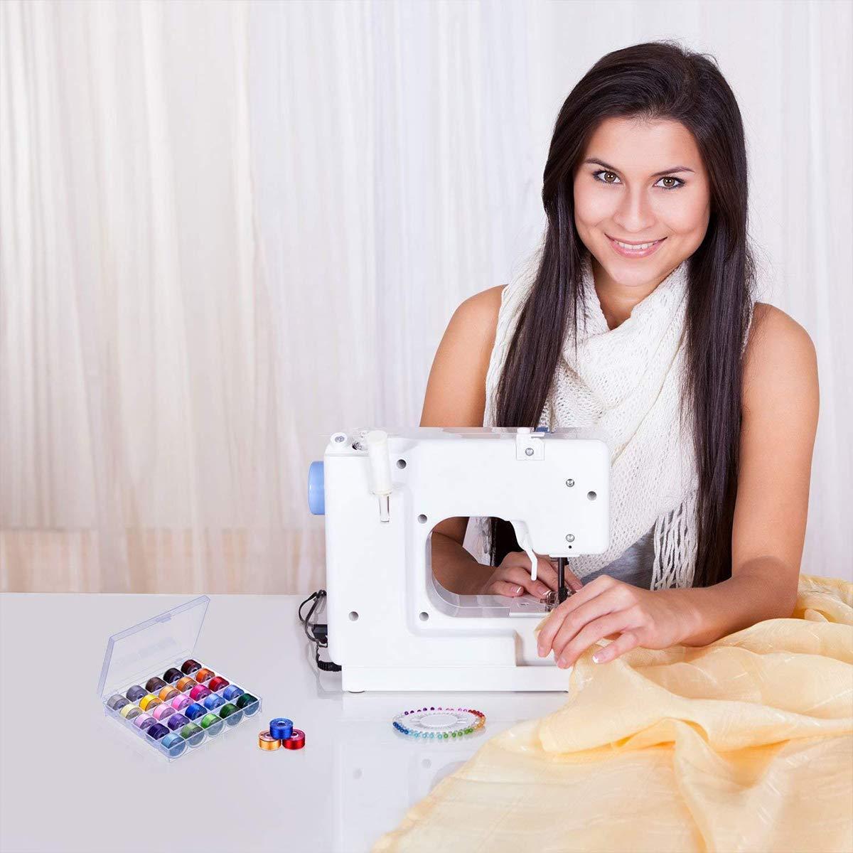 Bobbin Plastic 25 Pcs Sewing Machine Multi Function Clear Bobbins Lock
