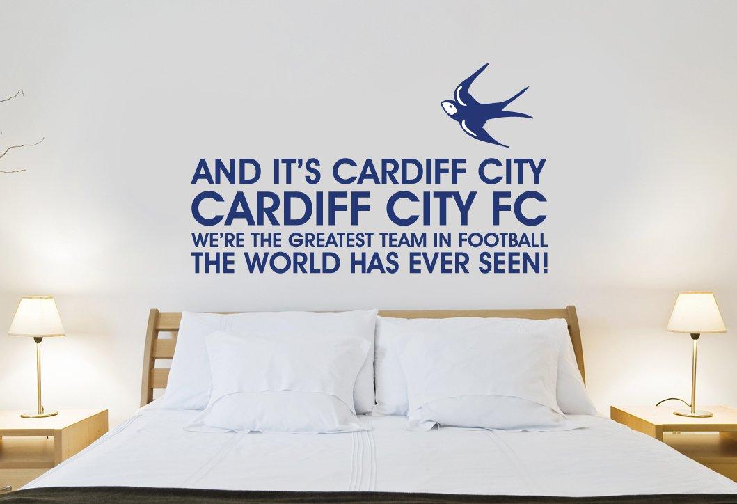 Cardiff City Fc Greatest Team Song Wall Sticker Decal Football Art