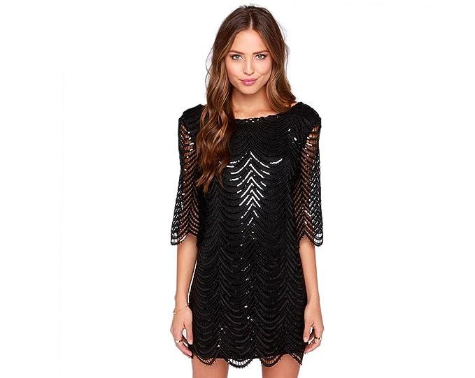 Vestidos De Fiesta Sexys Cortos Ropa De Moda Para Mujer y Noche Elegante Casuales Negro (