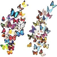 72 Piezas 3D Mariposa Pegatinas de Pared Etiquetas Engomadas Mariposas Decoración de la Pared Para Hogar Casa Habitación
