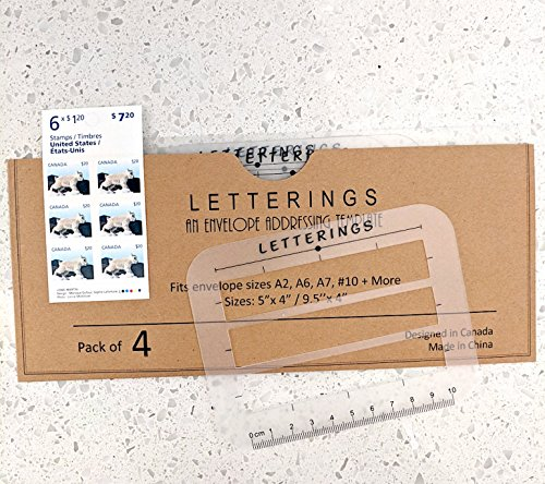Envelope and Address Stencil Ruler Guide and Template