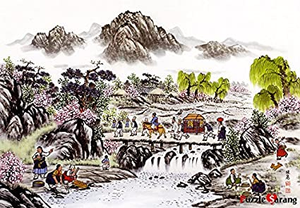 Jigsaw Puzzle 1000 市場風景 시장풍경 Korea Traditional Market Landscape by KOREA PuzzleLife 1266