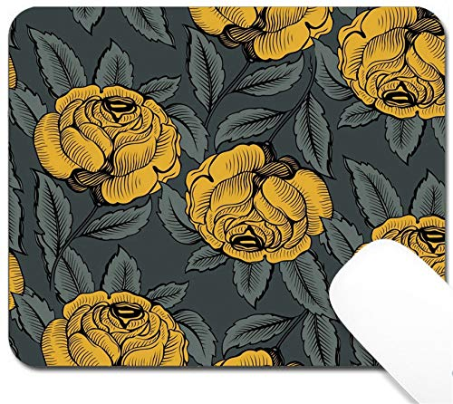 MSD Mouse Pad with Design - Non-Slip Gaming Mouse Pad - Image ID: 9462891 Flower Rose Pattern