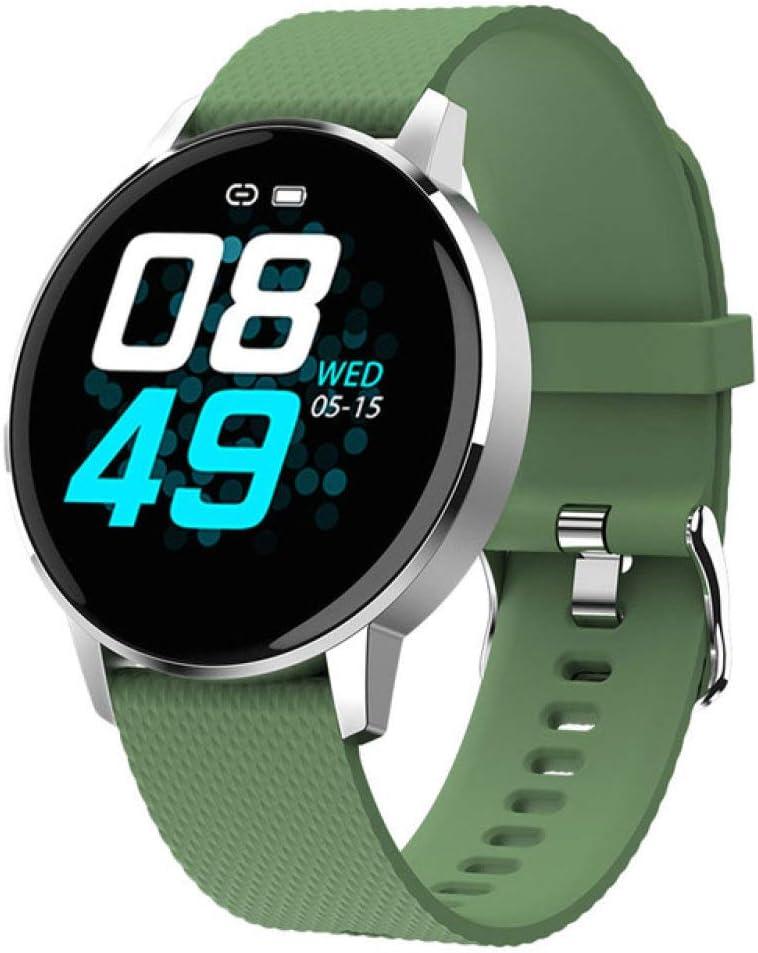 AAA&LIU 2020 Smart Watch Hombres Mujeres Ip68 Impermeable Fitness Tracker Oxígeno Presión Arterial Corazón Rate Monitor Reloj Smartwatch para Deporte, Verde