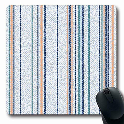 - Ahawoso Mousepads for Computers Blue Canvas Striped Denim Jeans Abstract Thread Classic Color Endless Graphic Indigo Design Light Oblong Shape 7.9 x 9.5 Inches Non-Slip Oblong Gaming Mouse Pad