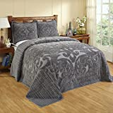 Better Trends/ Pan Overseas BSASTWGRY Ashton Bedspread Grey/81'' x 110''/Twin