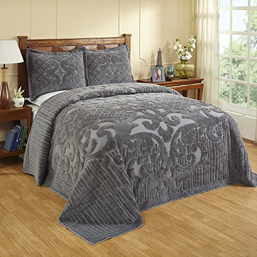 Better Trends/ Pan Overseas Ashton Bedspread, 120″ x 110″/King, Grey
