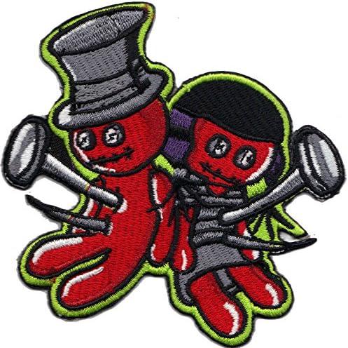 Voodoo Puppen Zauber Black Magic Rockabilly Biker Patch Aufn/äher Aufb/ügler Sticker