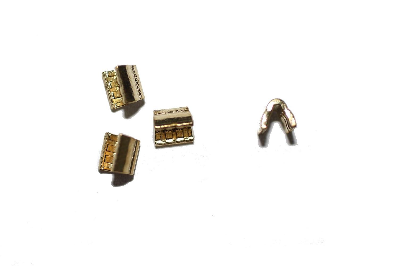 dalipo 32003 - Reißverschluss Stopper Endstücke oben, 4 Stück, gold 4 Stück