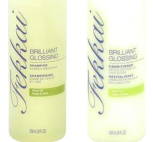 Fekkai Brilliant Glossing Shampoo and Conditioner Set - Olive Oil - 1 Bottle of Each, 8 fl oz per Bottle