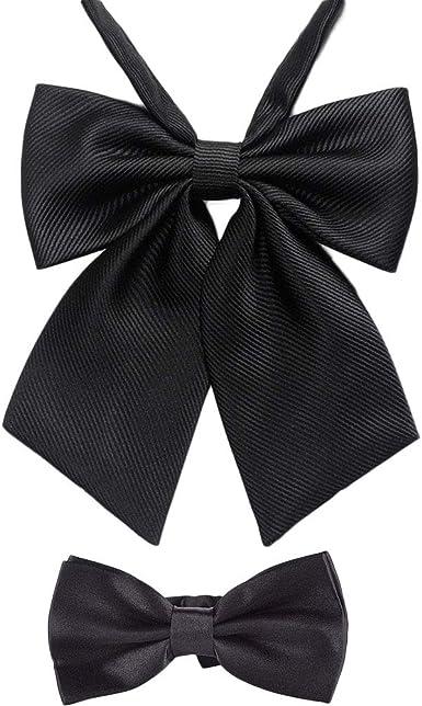 Ladies Cotton Adjustable Pre Tied Bow tie Cotton Bowknot JK Cosplay Uniform