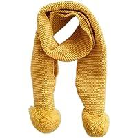 Bebé de invierno cálido cuello bufanda bufanda de punto color solido de la muchacha del muchacho