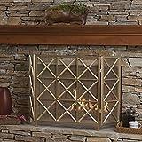 modern fireplace screens Christopher Knight Home Mandralla 3 Panelled Gold Iron Fireplace Screen