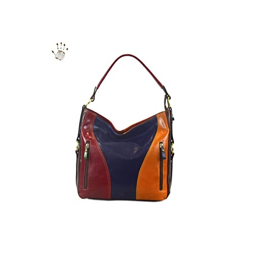 Conciata In Colore Donna Borsa Multicolor Al Pelle Vegetale W5tPPvZ 999ade14b4f