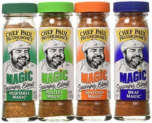 Chef Paul Prudhomme's Magic Seasoning Blends  Magic 4-Pack, Qty. Four  2-ounce bottles - Chef Paul Seasoning