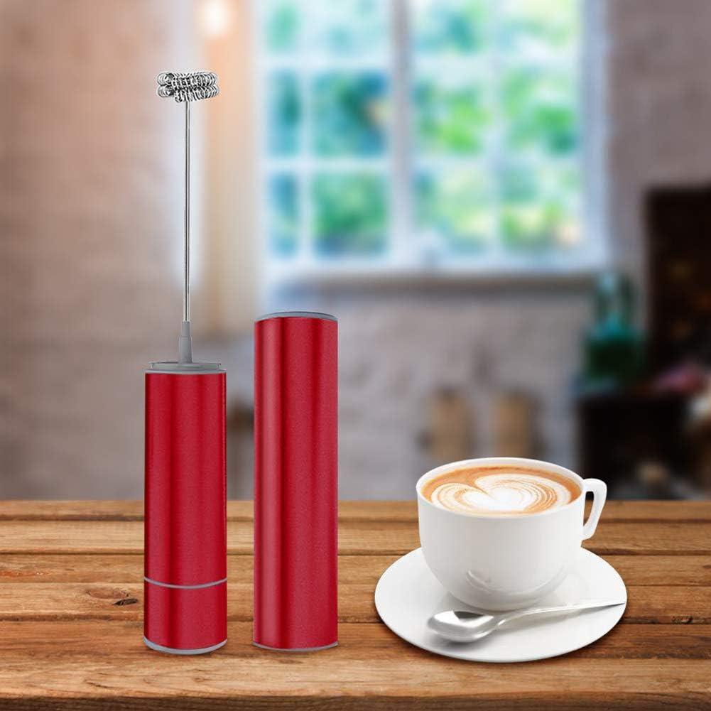 WSYK Frullino Montalatte Elettrico, Battery Operated Electric Foam Maker per Drink Mixer, Ideale per Il caffè Cappuccino di Latte e Cioccolata Calda,2pack 2pack
