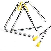 Juego de 2 Triángulo para Instrumento Musical, Triángulo Percusion con Batidor para Educación Musical Temprana…