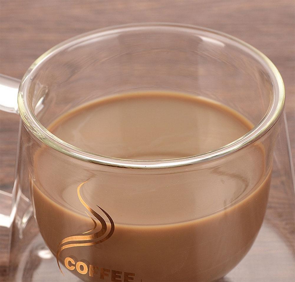 KUKI Taza de café resistente al calor de doble vidrio con una taza de café con aislamiento creativo: Amazon.es: Deportes y aire libre