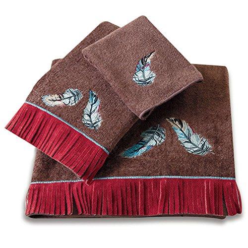 Avanti Weastern Feather and Fringe Bath Towel